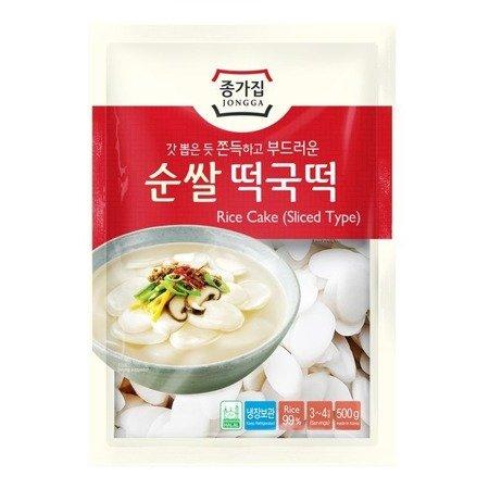 Kluski ryżowe do topokki, plastry 500g Jongga