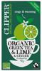 Zielona herbata z limonką i imbirem organiczna, 20 saszetek Clipper